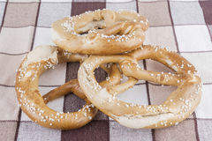 Desayuno de los pretzeles Imagen de archivo