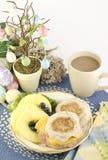 Desayuno de Pascua Foto de archivo libre de regalías