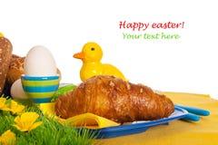 Desayuno de Pascua Imagen de archivo libre de regalías