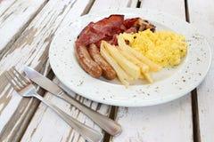 Desayuno de tocino y del huevo Imagen de archivo libre de regalías