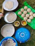 Desayuno del aire abierto en Al Ain fotos de archivo libres de regalías