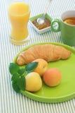 Desayuno del albaricoque Foto de archivo libre de regalías