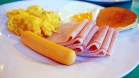 Desayuno del americano de la mañana Imagen de archivo libre de regalías