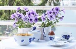 Desayuno del balcón Imagen de archivo