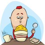Desayuno del cereal stock de ilustración