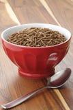 Desayuno del cereal del salvado de trigo Imagen de archivo libre de regalías