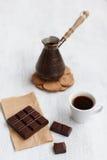 Desayuno del chocolate del café Imágenes de archivo libres de regalías