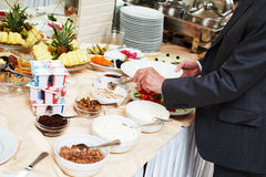Desayuno del estilo de la comida fría del sueco Fotografía de archivo libre de regalías