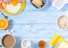 Desayuno del fondo Fotos de archivo libres de regalías