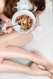 Desayuno del Granola foto de archivo