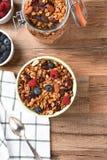 Desayuno del Granola Imagenes de archivo