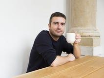Desayuno del hombre del retrato Imagen de archivo libre de regalías