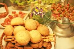 Desayuno del pan Foto de archivo libre de regalías