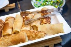 Desayuno del primer en una comida fría: foto de archivo libre de regalías
