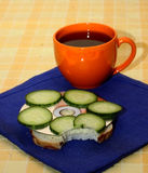 Desayuno del programador Fotografía de archivo