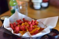 Desayuno del turco de la patata y de la salchicha Foto de archivo libre de regalías