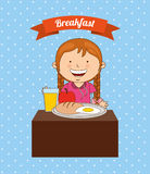 Desayuno delicioso stock de ilustración