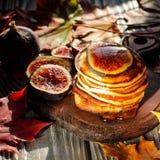 Desayuno delicioso del otoño Foto de archivo libre de regalías