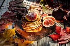Desayuno delicioso del otoño Imágenes de archivo libres de regalías