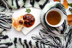 Desayuno dulce y sabroso Fotos de archivo libres de regalías