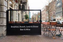 Desayuno en Amsterdam fotos de archivo libres de regalías