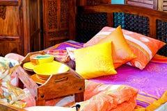 Desayuno en cama Fotografía de archivo libre de regalías