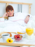 Desayuno en cama Imagen de archivo