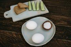 Desayuno en el pueblo Fotos de archivo libres de regalías
