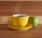 Desayuno en el vector de madera Imagen de archivo