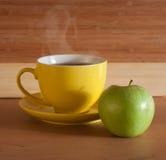 Desayuno en el vector de madera Fotografía de archivo libre de regalías
