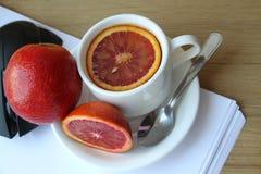 Desayuno en la oficina Imagen de archivo libre de regalías