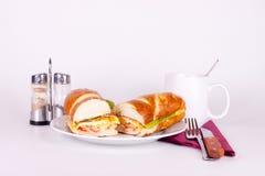 Desayuno en la placa Fotos de archivo libres de regalías