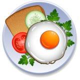 Desayuno en la placa ilustración del vector