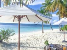 Desayuno en la playa Imagen de archivo libre de regalías