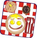 Desayuno en una persona Imágenes de archivo libres de regalías