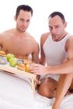 Desayuno feliz del homo Imagen de archivo