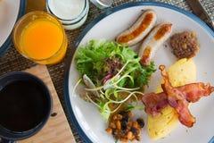 Desayuno fijado con la diversa nutrición foto de archivo libre de regalías