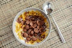 Desayuno fijado con la diversa nutrición imagen de archivo libre de regalías
