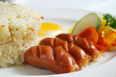 Desayuno filipino del estilo Fotos de archivo libres de regalías