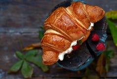 Desayuno francés fotografía de archivo