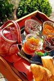 Desayuno francés del verano Imagen de archivo libre de regalías