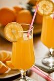 Desayuno fresco del zumo de naranja Foto de archivo libre de regalías