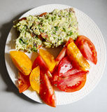 Desayuno fresco y colorido Fotos de archivo