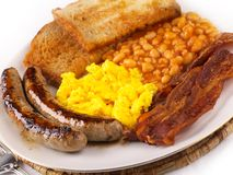 Desayuno frito del alimento foto de archivo