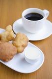 Desayuno frito del palillo de la pasta Fotografía de archivo