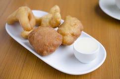 Desayuno frito del palillo de la pasta Foto de archivo libre de regalías