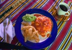 Desayuno guatemalteco del huevo del estilo mexicano Fotos de archivo