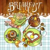 Desayuno hermoso del ejemplo Fotos de archivo libres de regalías