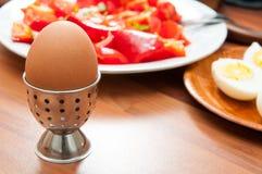 Desayuno hervido de los huevos Fotos de archivo libres de regalías