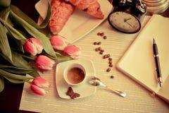 Desayuno ideal Imágenes de archivo libres de regalías